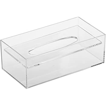 蝶プラ工業 デスコ ティッシュケース 透明 125×244×86H(mm)