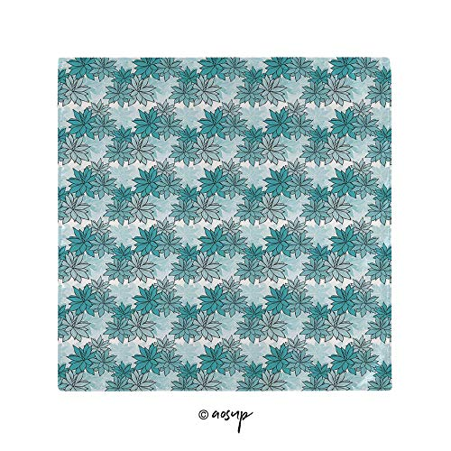 """Homenon Napkins, Continuous Hand Drawn Floral Succulents, Square Printed Party & Dinner Napkin, 20"""" x 20"""", PolyesterPack of 1 -  HongKong Fudan Investment Co., Limited, LJ_CJ68_B01C19013_20407_90598_20x20inx1"""