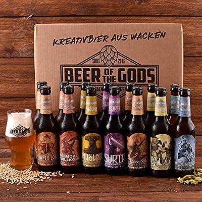 Wacken Brauerei Göttergabe Pro-BIER-Paket - 14 x Beer of the Gods inkl. Craftbeer Glas mit Logo - Craft beer Set