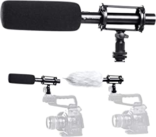 XLR Shotgun Microphone Interview, Sevenoak BY-PVM1000 Pro Broadcast-Quality Mic with Windscreen & Shock Mount & 3 Pin XLR Output for Canon 6D Nikon D800 Sony Camcorders New Gathering YouTube Video