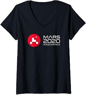 Femme NASA Persévérance Rover Launch Day T-Shirt avec Col en V
