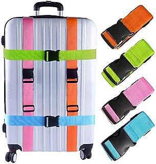 Senfhome Luggage Straps Suitcase Belts Travel Accessories Bag Straps (4Pack-Multicolor)