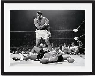Framed art muhammad ali art, Framed Muhammad Ali vs. Sonny Liston Printed, boxing posters, Muhammad Ali