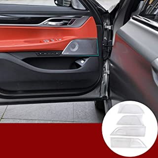YIWANG Aluminum Alloy Car Door Speaker Cover Trim 4Pcs for Land Rover Discovery 5 L462 LR5 2017-2019 Auto Accessories