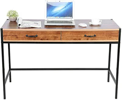 Scenic Computer Desk Metal Study Student Writing Office Table Drawer Cabinet