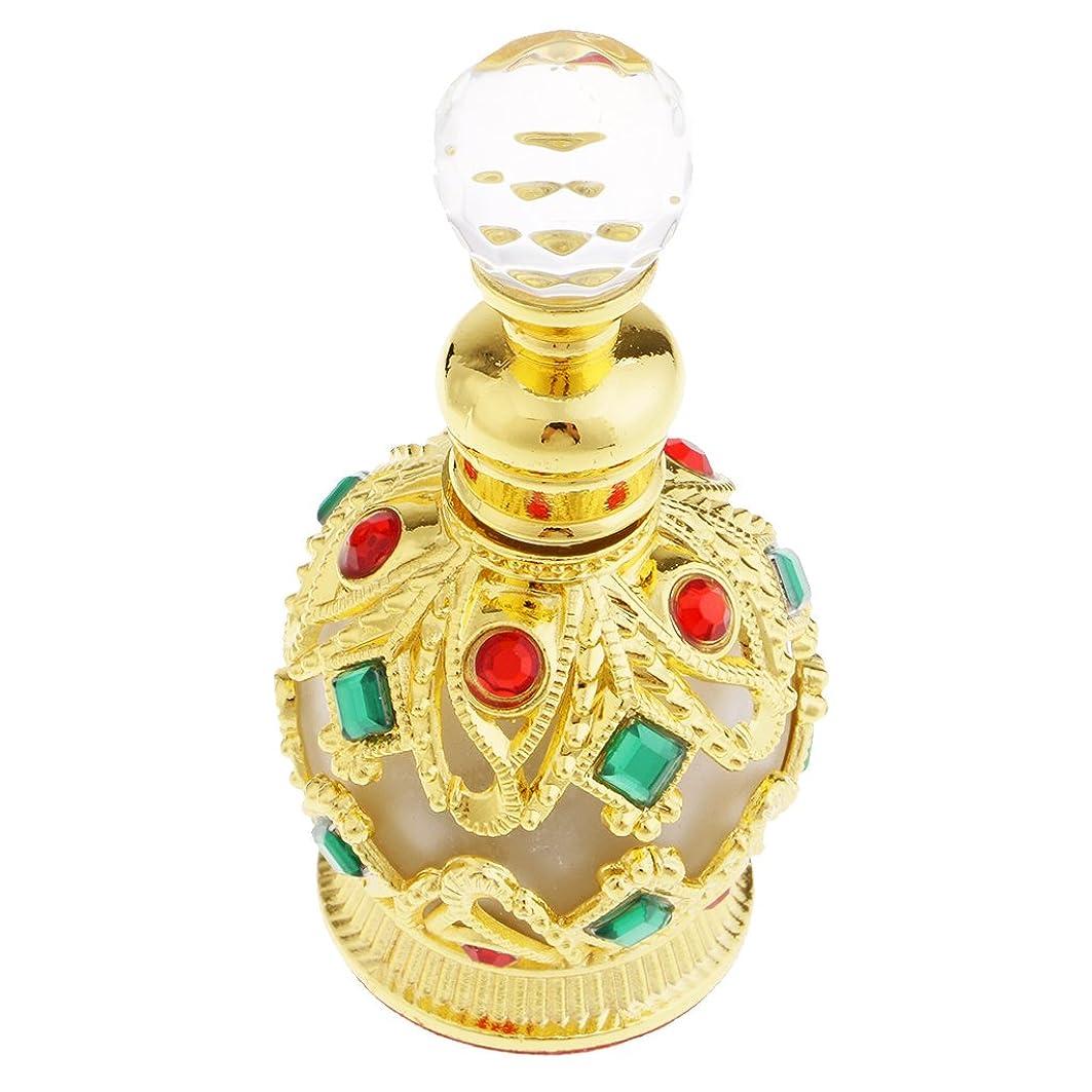 可聴承認する許容できるFenteer 金属製 中東スタイル トラベル 香水瓶 15ml 香水ボトル 小型 軽量 携帯便利 全2色 - ゴールド