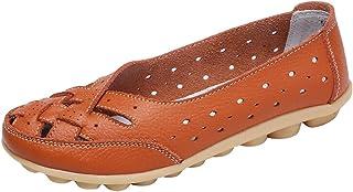9754c1caf6b9bc Heheja Femme Chaussure d Été Confort Mocassins Loisir Plates Loafers Bateau  Chaussures