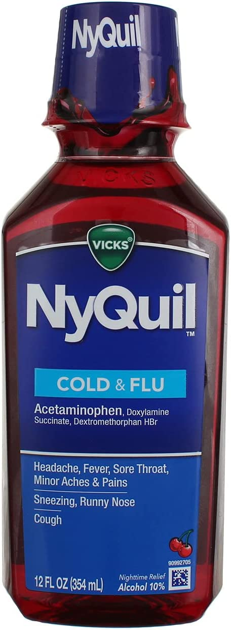 Vick's NyQuil Cold Flu Liquid Relief Medicine Fl 12 5 ☆ very popular Nighttime Choice