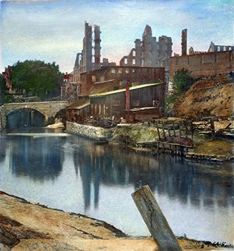 Richmond In Ruins 1865 Nruins Of The Gallego Flour Mills At Richmond Virginia Destroyed By Confederate Troops Before The Evacuation Of The City 2 April 1865 Oil Over A Photograph 1865 Poster Print by -  Granger Collection, GRC0055544LARGE
