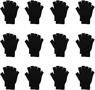 CUGBO Black Winter Warm Knit Magic Gloves for Unisex Adults-One Size Fits All