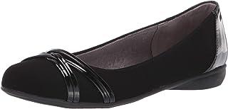 LifeStride Women's Aliza Ballet Flat, Black, 7.5 Wide