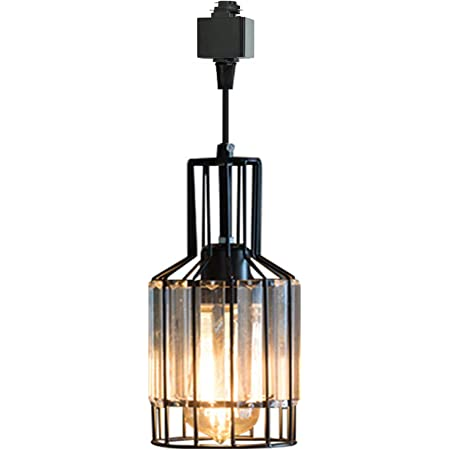 SKIVTGLAMP Circular Dimmable Pendant Light H-Type Track Light Pendants Clear Crystal Lamp Shade Track Mount Pendant lights Industrial Vintage Stytle Customizable Iron Halo Track Pendant 1 LIGHT,11.8in