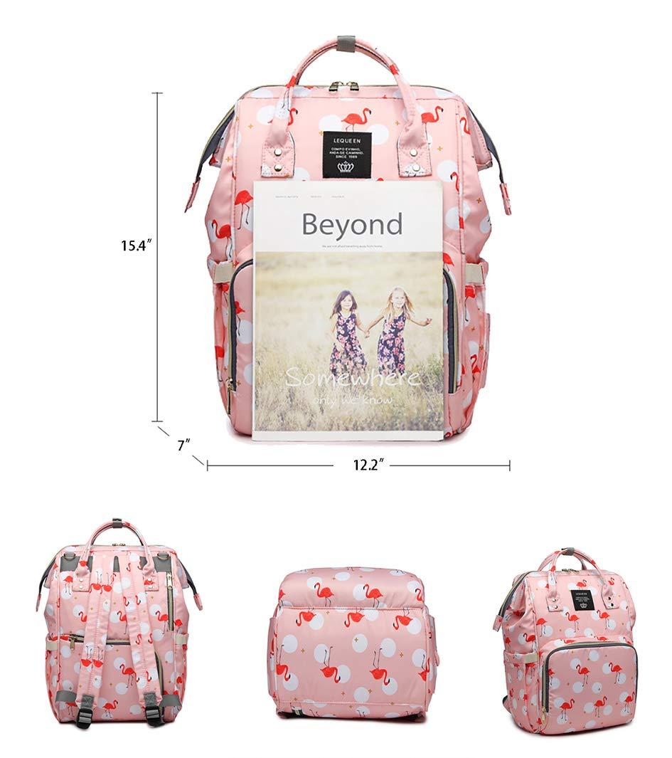 Starte Baby Diaper Bag for Mom / Dad,Flamingo Bag for Women Waterproof Travel Backpack,Spacious Tote Shoulder Bag Organizer,Pink