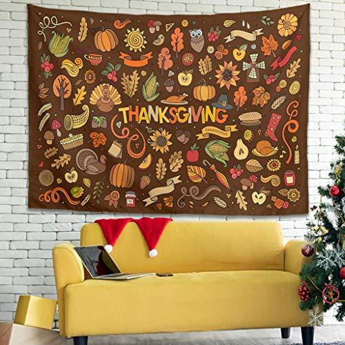 Xuanwuyi Turquía Calabaza hoja de arce de Acción de Gracias cubre para cama de interior fácil de empacar – Ligero adecuado para 4 estaciones de color blanco 40 x 149 cm