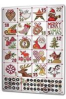 カレンダー Perpetual Calendar Christmas Retro Lindner Advent Calendar Tin Metal Magnetic