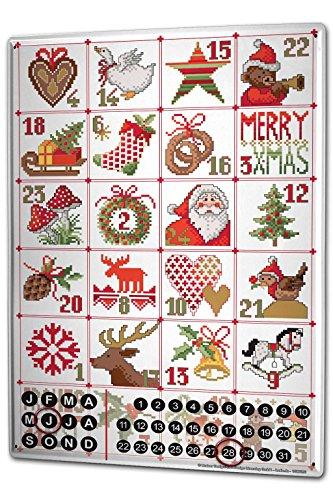 Wandkalender 2019 Jahreskalender Dauerkalender 2020 Kalender 2021 Terminplaner Fotokalender Weihnachtsmann Lindner Adventskalender Metall Magnet