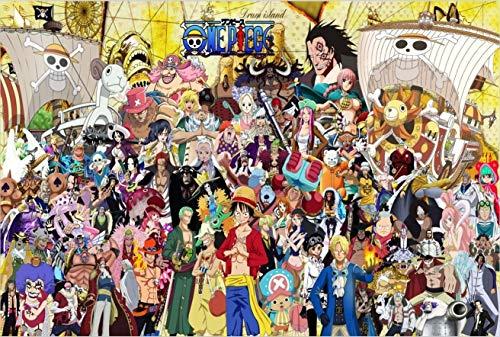 ARTF 1000 Piece Jigsaw Puzzles - 1000 pièces en carton Puzzle for adultes Jeux for enfants - Creative cadeau Home Decor intellectuelle jeu japonais Anime One Piece Wall Art Grand Jeu Puzzle Famille Je