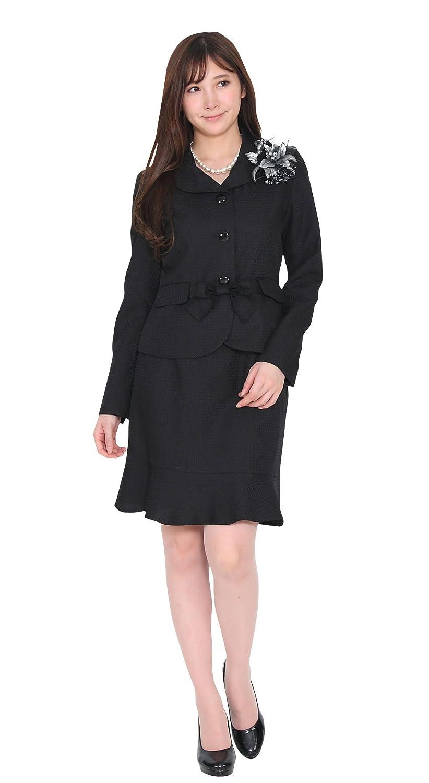 (ブティックユリア) Boutique Yuria クラシカルデザイン フォーマル スカートスーツ 膝丈
