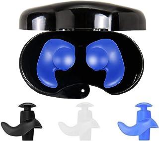 Naohiro Swimming Earplugs,Waterproof Reusable Silicone Swimming Ear Plugs for Swimming Showering Bathing Surfing Snorkelin...
