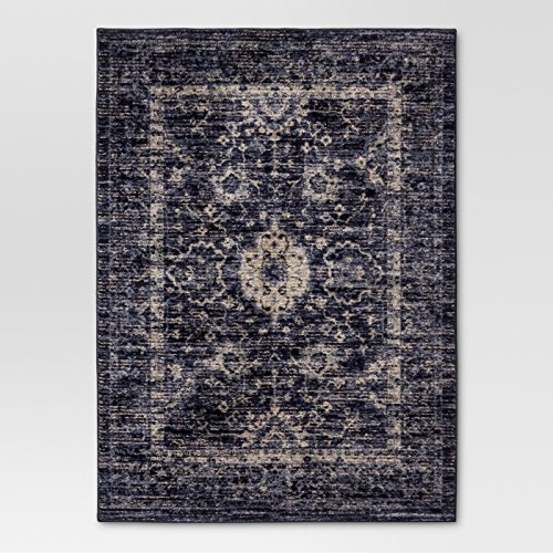 5'X7' Vintage Tufted Distressed Area Rug Indigo - Threshold™