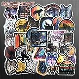 BLOUR 50 PCS/Set The Wolf StickersToys para niños Animal Sticker To DIY Laptop Skateboard Equipaje Motocicleta Bicicleta Coche Calcomanías