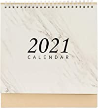 mollylower 2021 Desk Calendar, Standing Flip Office Desktop Calendar, Memo Pad Yearly Agenda Organizer Schedule Planner,Da...