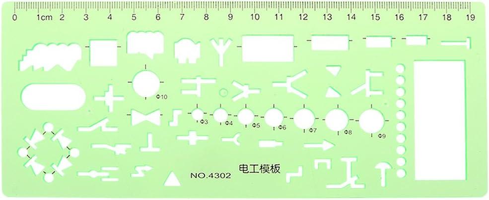 lehaha - Plastic Under Max 64% OFF blast sales Geometric Template Measuring Stencil Tool Ruler