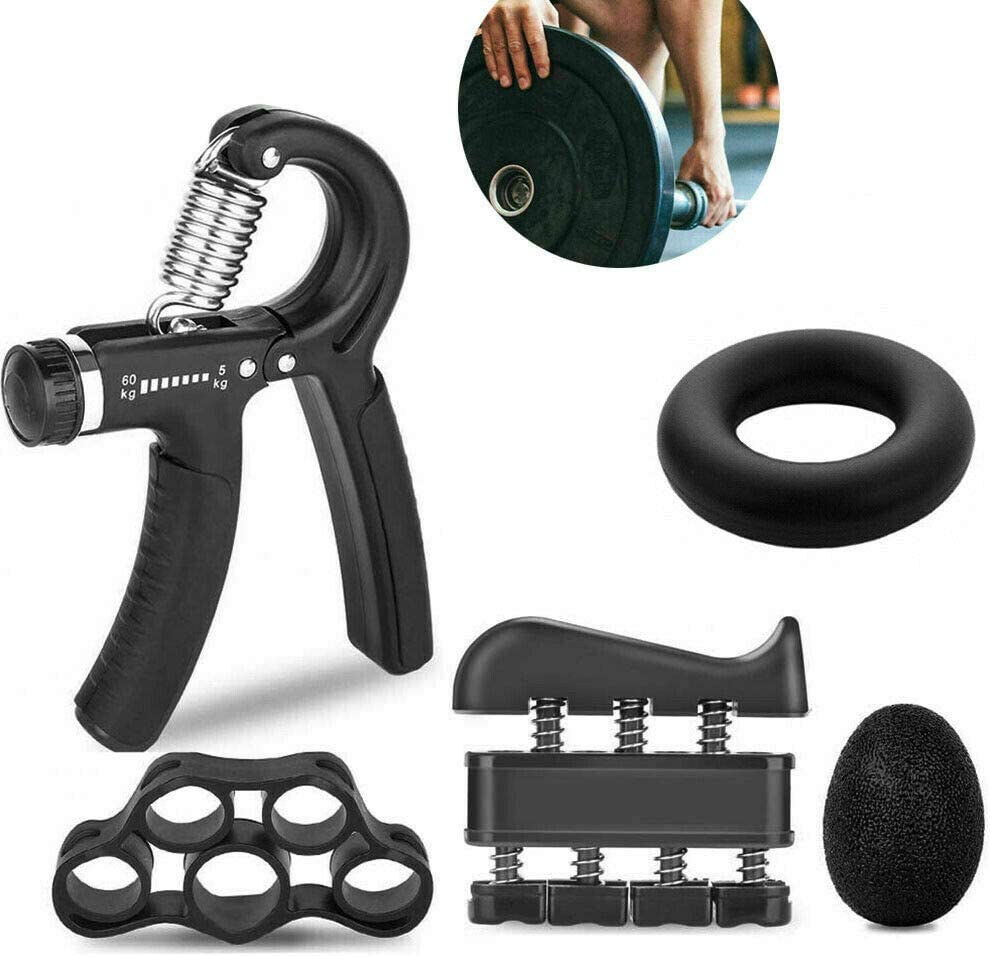 Hovico Hand Grip Strengthener Workout 5 Gri Adjustable Max 57% OFF Opening large release sale Kit Pack