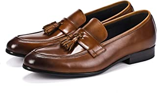 Vintage Fringe Business Oxford Shoes Formal Shoes (Color : Coffee, Size : 38)