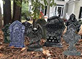 10PCS Halloween Yard Signs Tombstone Yard Stakes Gravestone Yard Sign Stake for Headstone Decorations Outdoor Lawn Decorations Tombstone Yard Decor