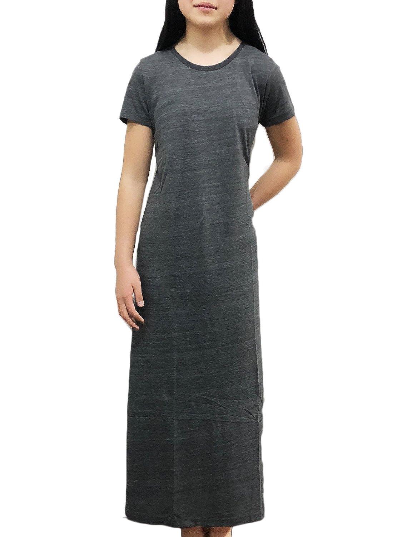 [アズルテ] Tシャツ マキシ ワンピ レディースファッション 無地 フリーサイズ マキシ丈 tシャツ ワンピース 部屋着 ルームウェア