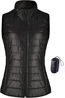 Wudodo Padded Vest for Women Lightweight Full Zip up Stand Collar Packable Quilted Gilets Outwear Coat