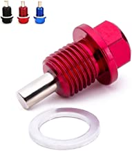 Magnetic Oil Drain Plug Magnetic Sump Drain Nut Oil Drain Bolt (14x1.5, Red)