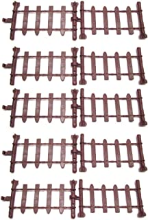 100 Pcs Miniature Fairy Garden Fence With Buckle,Resin Picket Fence Palisade,Decorative Fence Fencing for Outdoor&House De...