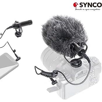 SYNCO M1 Micrófono-Cámara-Reflex-DSLR-Externo, Shotgun Micrófono ...