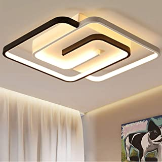 Dimmable LED Chambre Plafonniers Moderne Chic Salle À Manger Plafonnier Creative Carré Luminaire À Distance Luminaire, Mét...