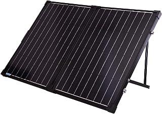 Renogy 100 Watt 12 Volt Monocrystalline Off Grid Portable Foldable 2Pcs 50W Solar Panel Suitcase Built-in Kickstand with W...