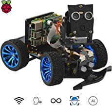 Adeept Mars Rover PiCar-B WiFi Smart Robot Car Kit for Raspberry Pi 3 Model B+/B/2B, Speech Recognition, OpenCV Target Tracking, Video Transmission, STEM Educational Robot with PDF Instructions