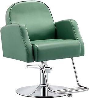 Silla de oficina Sillas de escritorio de oficina Silla de peluquería de cuero   Silla de peluquería de salón ajustable   Ascensor de silla de estilo hidráulico clásico   360 giratorio / altura ajustab