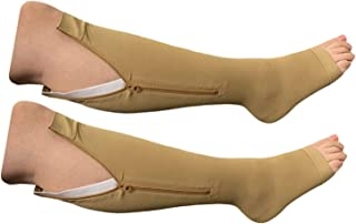 HealthyNees Big Tall Plus Calf Extra Wide 20-30 mmHg Open Toe Compression Socks