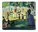 dealzEpic - Art Mousepad - Natural Rubber Mouse Pad with Famous Painting of A Sunday Afternoon on The Island of La Grande Jatte by Georges Seurat - Stitched Edges - 9.5x7.9 inches