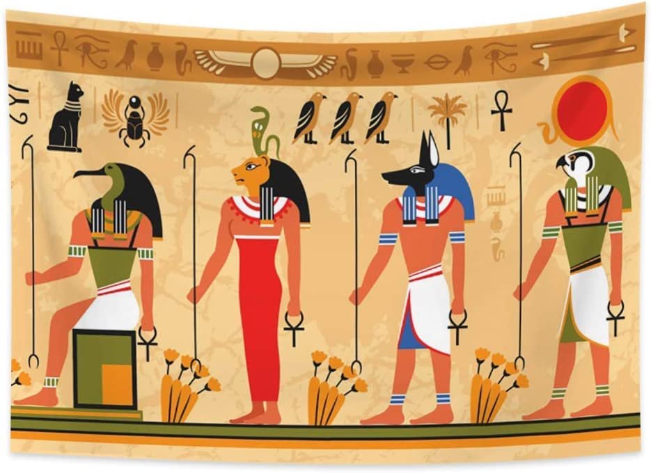 Renaiss Max 83% OFF 39.4x27.6 Inches Egyptian Ancient Pharaohs Colo Tapestry Sale Special Price