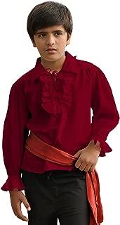 Kids Pirate Medieval Renaissance Medieval Cosplay Costume 100% Cotton Captain Shirt