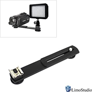 Compatible with Super Clamp 5//8 Stud with 3//8 Screw Thread Hole Angle Adjustable AGG2243 LimoStudio 3 Section Double Articulated Arm Camera Mount Bracket