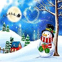 GladsBuyリアルな雪だるま10' x 10'デジタル印刷写真バックドロップクリスマステーマ背景yha-444