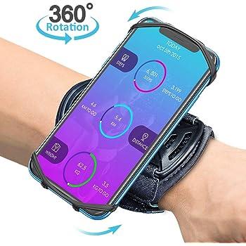 Bovon Porta Cellulare Braccio, Fascia Braccio Smartphone per Corsa, Jogging Traspirante 360° Rotazione Universale Armband da Polso per iPhone 11 PRO Max 6 6s 7 8 Plus X XR XS Max, Samsung S20 S10