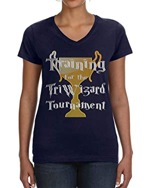 Tenacitee Women's Training for The Triwizard Tournament V-Neck T-Shirt