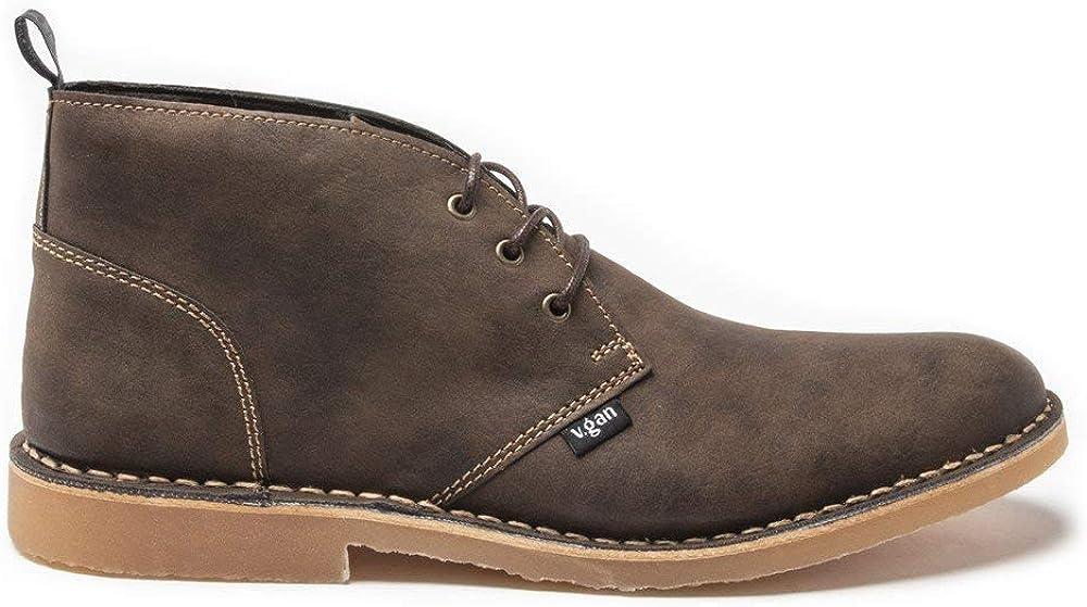 V.GAN Mens 買い物 Vegan Radish OUTLET SALE Boots Brown Desert Chukka