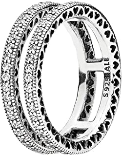 Pandora Women's Sterling Silver Cubic Zirconia 925 Silver Ring, 52 EU - 196236CZ-52