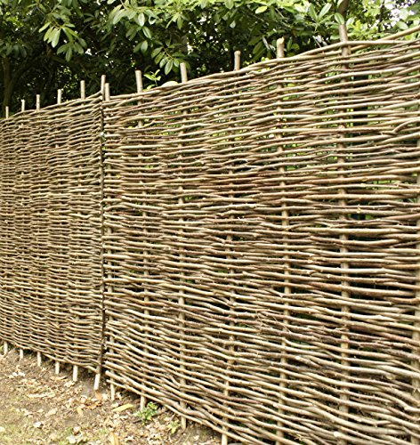Papillon Premium Hazel Hurdle Woven Wattle Garden Fence Panel 1.8m x 0.9m (6ft x 3ft)